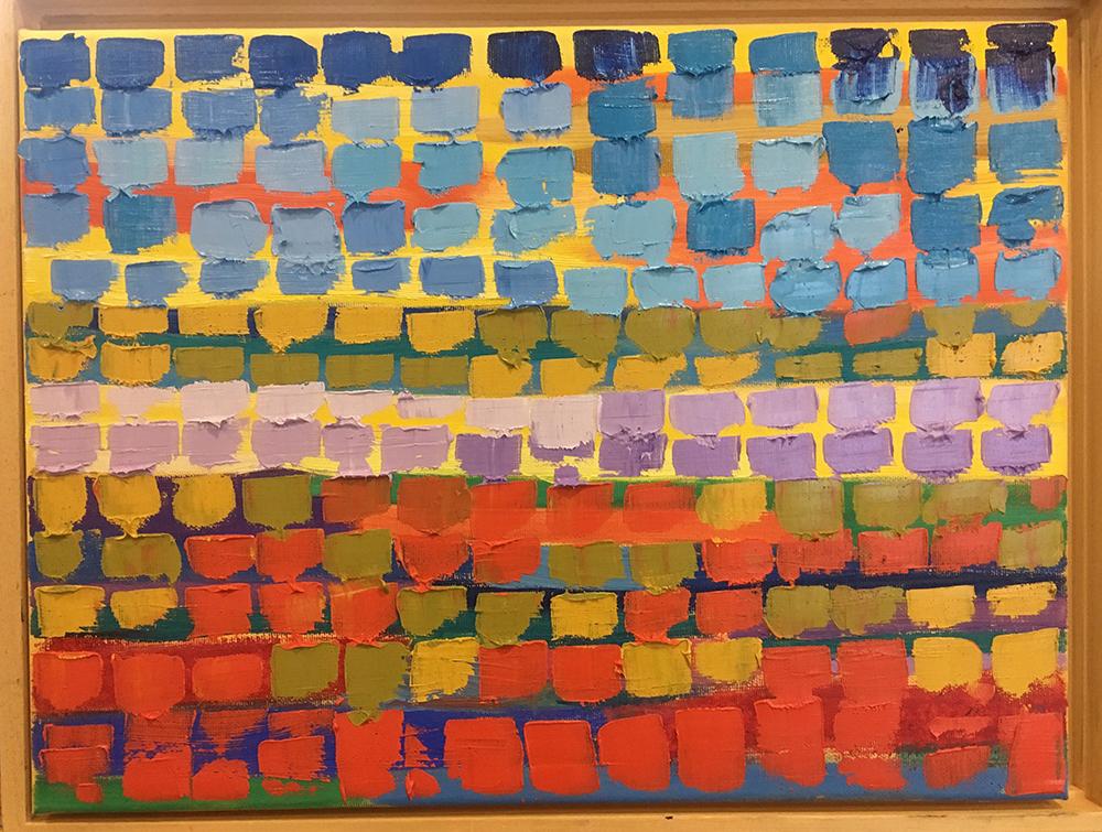 schilderij gekleurde rechthoekjes