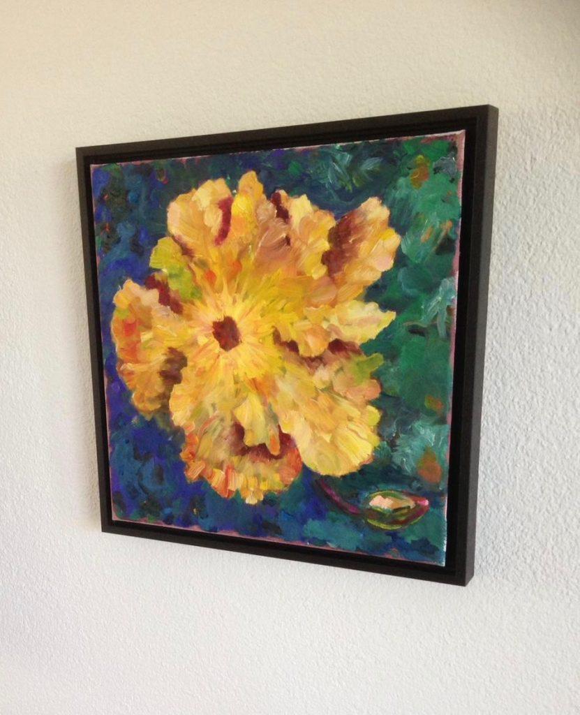 schilderij gele bloem